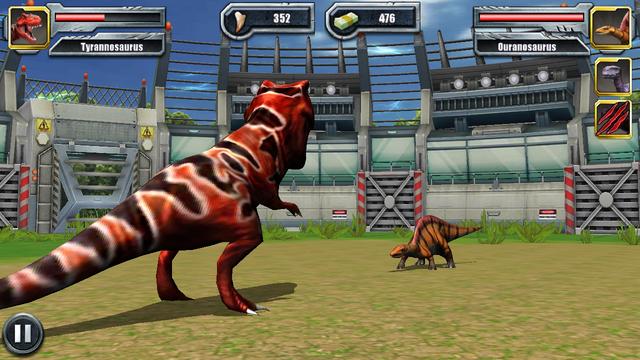 File:TRex Fighting Battle Jurassic Park Builder (5).png