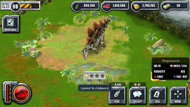 File:Jurassic Park Builder Game Pictures Dinosaurs Stegosaurus Levels 15.png