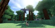 Microraptors hunting