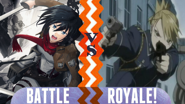 File:Battle Royale Mikasa Ackerman vs Riza Hawkeye.png