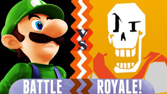 File:Luigi vs Papyrus.PNG