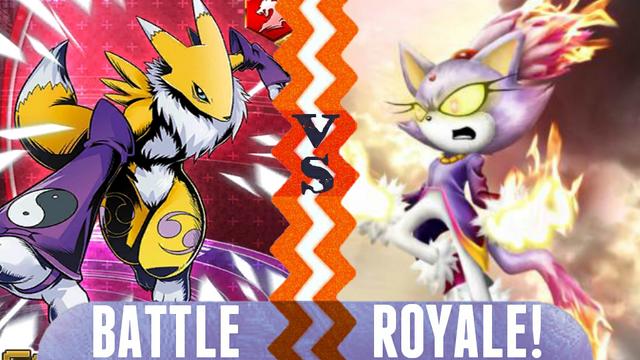 File:Battle Royale Renamon vs Blaze the Cat.png