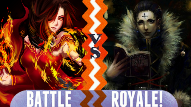 File:Cinder Fall vs. Chrollo Lucilfer - RWBY VS Hunter X Hunter - Battle Royale.png