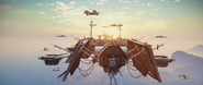 Sky Fortress (trailer screenshot - fleet of enemy ships - front)