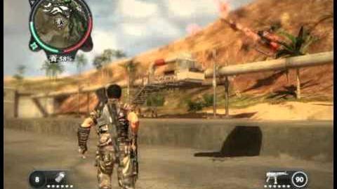 Just Cause 2 - Kem Sungai Cerah - military base