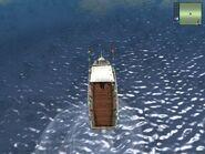 Trawler recreational, upper view.