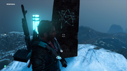 JC3 Closeup of the pentagram obelisk in the mountains
