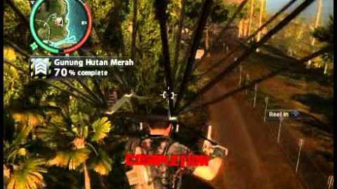 Just Cause 2 - Gunung Hutan Merah - military base