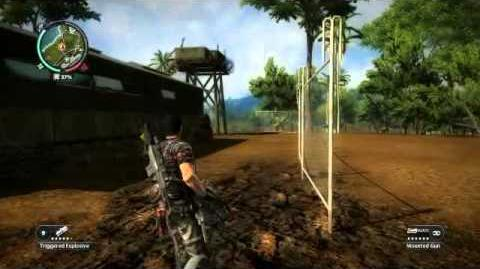 Just Cause 2 - Base clearing with a minigun