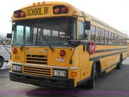Real -Ford Blue Bird, año 19993,school version, left side view from front