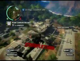 Just Cause 2 - Kem Lembah Hutan - military base 010