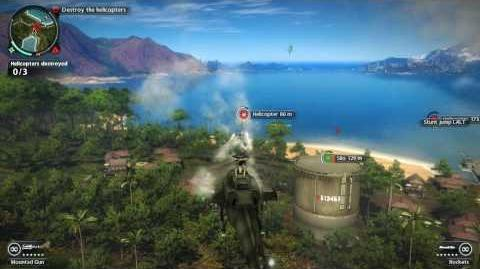 Just Cause 2 Mission Helicopter Hangaround