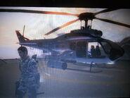 UH-10 Chippewa with rocket pods Gunung Gila Pangkat Facility