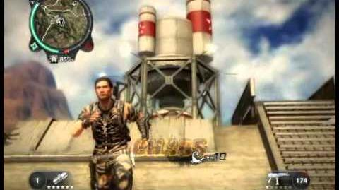 Just Cause 2 - destroying the bio fuel shaft