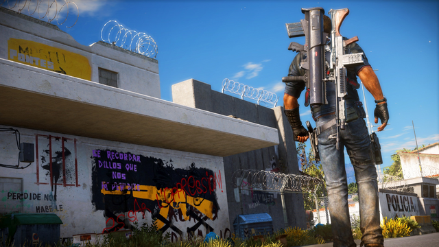 File:JC3 graffiti on a police wall.png