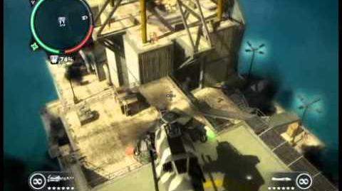 Just Cause 2 - Pelantar Gas Telok Panau - offshore rig