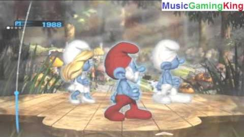 "The Smurfs Dance Party Gameplay - ""Smurfs (Main Title)"" - High Score Of 3,595 Points Achieved"
