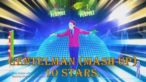 Just Dance 2014 - Gentleman (Mash Up) - 10 Stars Gameplay, PS4 Camera.