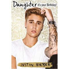 Justin Bieber Daughter Birthday Card<br /><br />The message on this birthday card says