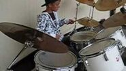 Justin Bieber on the drums