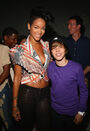 Rihanna and Justin Bieber at Island Def Jam Spring Collection party