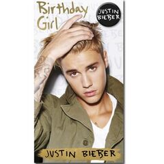 Justin Bieber Birthday Girl Card<br /><br />The message on this birthday card says