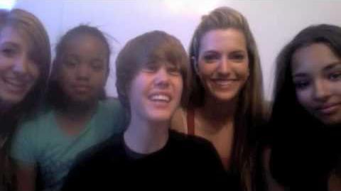 Justin Bieber Behind the Scenes w School Gyrls cast!!
