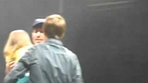 Justin bieber brings his little sister Jazzy on stage at sound check