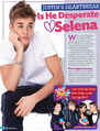 Tiger Beat January, February 2013 Justin's heartbreak