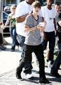 Justin Bieber eating frozen yogurt in LA