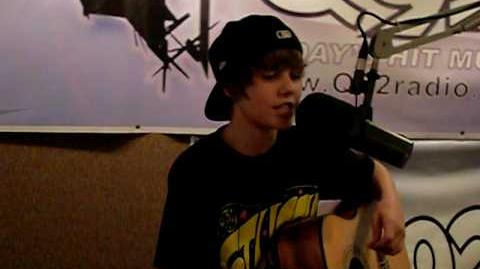 Justin Bieber performing live at Q92