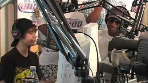 Usher and Justin Bieber in studio with The Bert Show on Q100 pt