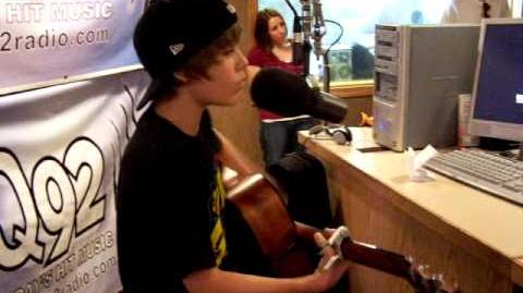 """Justin Bieber performs """"One Time"""" on WDJQ"""