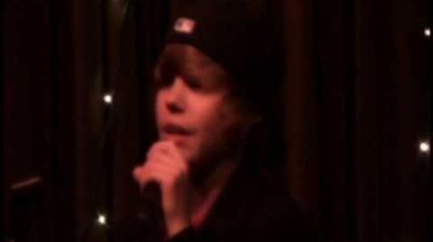 Justin singing Common Denominator - Justin Bieber Original
