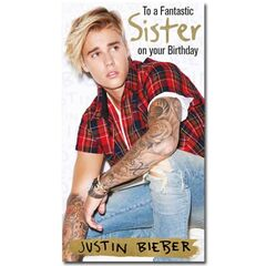 Justin Bieber Sister Birthday Card<br /><br />The message on this birthday card says