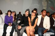 Scooter Braun, Justin Bieber, Pete Wentz, Kristinia DeBarge and Kenneth Edmonds at the Island Def Jam Spring Collection party 2