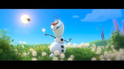 "Frozen ""In Summer"" Song - Sing-a-long with Olaf - Official HD"