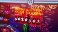 Fushimi begins to lock down Mihashira Tower