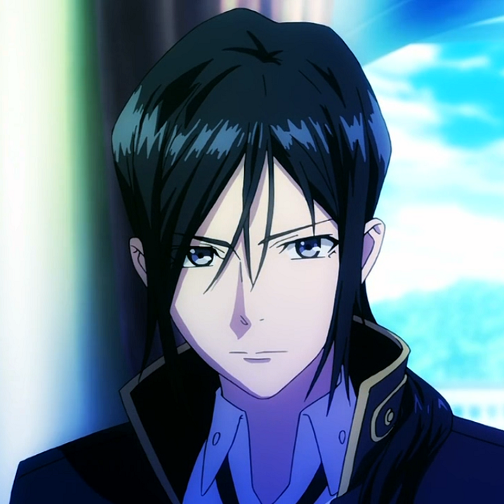 anime guy with black hair and gold eyes