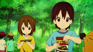 Nodoka and Yui during a trip