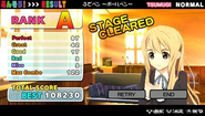 K-ON! Ho-kago Live!! Result screen
