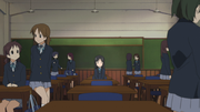 Mio in her new class