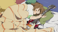 Yui slept with her guitar