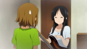 Mio's bass got the first scratch