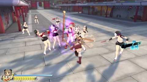 PS4 60FPS『閃乱カグラ ESTIVAL VERSUS -少女達の選択-』Renka gameplay(All Ninpos)