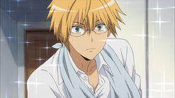 Usui opens the door