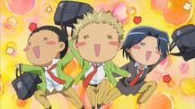 Joyful moron trio