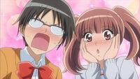 Embrassed shizuko and sakura