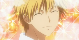 Takumi smiling