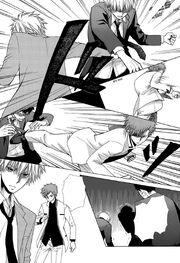 Tora and Takumi defeating the guys in black